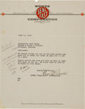 Miscellaneous Collectibles:General, 1940 Charles E. Bowes Signed Letter....