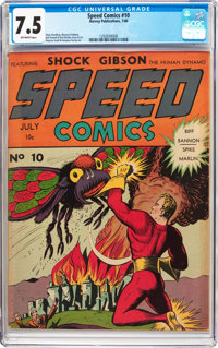Speed Comics #10 (Harvey, 1940) CGC VF- 7.5 Off-white pages