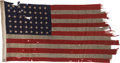 Military & Patriotic:WWII, The 48 Star Flag that Led the First Americans to Utah Beach on D-Day, June 6, 1944....