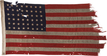 Featured item image of The 48 Star Flag that Led the First Americans to Utah Beach on D-Day, June 6, 1944....