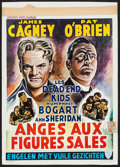 "Movie Posters:Crime, Angels with Dirty Faces (Warner Brothers, R-1950s). Trimmed Belgian(14"" X 19.25""). Crime.. ..."