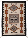 American Indian Art:Weavings, A Navajo Pictorial Regional Rug. Western Reservation. c. 1959...