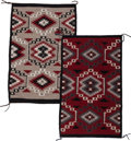 American Indian Art:Weavings, Two Contemporary Navajo Regional Rugs ... (Total: 2 Items)