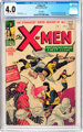 X-Men #1 UK Edition (Marvel, 1963) CGC VG 4.0 Off-white to white pages