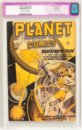 Golden Age (1938-1955):Science Fiction, Planet Comics #43 Trimmed (Fiction House, 1946) CGC Apparent FN 6.0Cream to off-white pages....