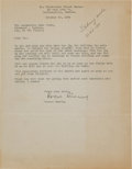 Miscellaneous Collectibles:General, 1934 Roscoe Dunning Signed Letter....