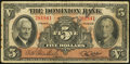 Canadian Currency: , Toronto, ON- The Dominion Bank $5 Jan. 3, 1938 Ch. # 220-28-02. ...