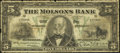 Canadian Currency: , Montreal, PQ- The Molsons Bank $5 Jan. 2, 1912 Ch. 490-32-02. ...