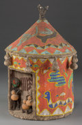 Tribal Art, YORUBA, Nigeria. Beaded Shrine...