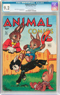 Golden Age (1938-1955):Funny Animal, Animal Comics #7 (Dell, 1944) CGC NM- 9.2 Cream to off-whitepages....