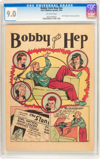 Bobby Gets Hep #nn (Frederick S. Clarke, 1946) CGC VF/NM 9.0 Off-white pages