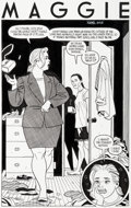 Original Comic Art:Splash Pages, Jaime Hernandez Love and Rockets V2#2 Splash Page 1 MaggieOriginal Art (Fantagraphics, 2001)....