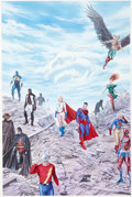 Original Comic Art:Covers, Alex Ross Justice Society of America #14 Cover PaintingOriginal Art (DC, 2008)....