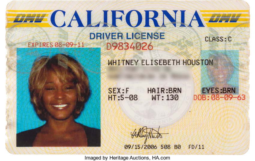 Whitney 2006 Houston Official License Auctions California Heritage Lot Driver's 89113
