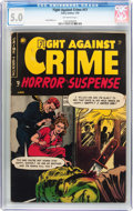 Golden Age (1938-1955):Crime, Fight Against Crime #17 (Story Comics, 1954) CGC VG/FN 5.0 Off-white pages....