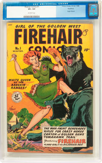 Firehair Comics #1 Rockford pedigree (Fiction House, 1948) CGC VF+ 8.5 Off-white pages