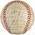 Baseball Collectibles:Balls, 1941 Rochester Red Wings Team Signed Baseball (21 Signatures) - With Stan Musial!...