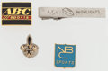 Football Collectibles:Others, NBC, Saints, AFL and ABC Pins Lot (4)....