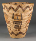 American Indian Art:Baskets, A Hopi Polychrome Bundle-Coiled Basket. Attributed to NellieQuamalla. c. 1940...