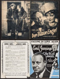 """Movie Posters:Drama, The Blue Angel (Paramount, 1930). German Program (8 Pages, 8.75"""" X11.75"""") & Sheet Music (6 Pages, 9"""" X 12""""). Drama.. ... (Total:2 Items)"""