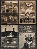 "Movie Posters:Drama, Olympia (Tobis, 1936). German Programs (2) (8 Pages, 8.75"" X11.5""). Documentary.. ... (Total: 2 Items)"