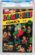 Golden Age (1938-1955):Funny Animal, Jamboree Comics #1 (Round, 1946) CGC NM 9.4 Off-white to whitepages....