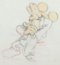 "Animation Art:Production Drawing, Fantasia ""Sorcerer's Apprentice"" Mickey Mouse Animation Drawing (Walt Disney, 1940)...."