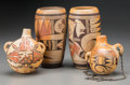 American Indian Art:Pottery, Four Hopi Polychrome Pottery Vessels. c. 1920... (Total: 4 Items)