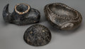 American Indian Art, Three Chumash Carved Stone Vessels. n. d.... (Total: 3 Items)