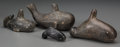 American Indian Art:Pipes, Tools, and Weapons, Four Chumash Carved Stone Whales. n. d.... (Total: 4 Items)