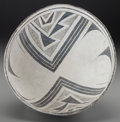 American Indian Art:Pottery, A Mimbres Black-On-White Bowl . c. 1000 - 1200 AD...