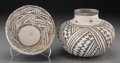 American Indian Art:Pottery, Two Anasazi Black-On-White Pottery Vessels . c. 1100 - 1250 AD...(Total: 2 )