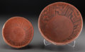 American Indian Art:Pottery, Two Pinedale Black-On-Red Bowls . c. 1100 - 1250 AD... (Total: 2Items)