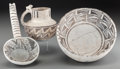American Indian Art:Pottery, Three Anasazi Black-On-White Pottery Items . c. 1100 - 1250 AD...(Total: 3 Items)