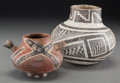 American Indian Art:Pottery, Two Anasazi Pottery Vessels . c. 1100 - 1250 AD...
