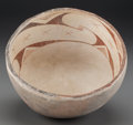 American Indian Art:Pottery, A Mimbres Brown/Black-On-White Bowl. c. 1000 - 1200 AD...