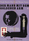 """Movie Posters:Drama, The Man With the Golden Arm (United Artists, 1955). East German A1 (22.5"""" X 32""""). ..."""
