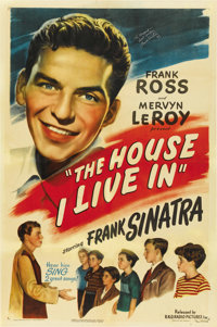 "The House I Live In (RKO, 1945). One Sheet (27"" X 41"")"