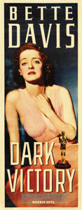 "Movie Posters:Drama, Dark Victory (Warner Brothers, 1939). Insert (14"" X 36""). ..."