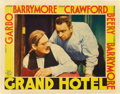 "Movie Posters:Drama, Grand Hotel (MGM, 1932). Lobby Card (11"" X 14""). ..."