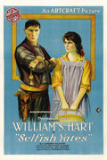 "Movie Posters:Western, Selfish Yates (Artcraft, 1918). One Sheet (27"" X 41""). ..."