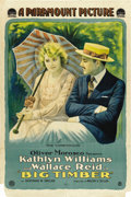 "Movie Posters:Romance, Big Timber (Paramount, 1917). One Sheet (27"" X 41""). ..."