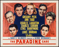 """Movie Posters:Hitchcock, The Paradine Case (Selznick, 1948). Half Sheet (22"""" X 28"""") Style A. Hitchcock.. ..."""