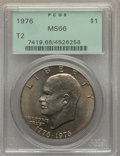 Eisenhower Dollars, 1976 $1 Type Two MS66 PCGS. PCGS Population (473/11). NGC Census: (350/3). Mintage: 113,318,000. Numismedia Wsl. Price for ...