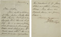 Autographs:U.S. Presidents, William Howard Taft Autographed Letter Signed as President. ...