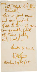 Autographs:U.S. Presidents, Lyndon B. Johnson Autograph Letter Signed with Initials as President.... (Total: 2 Items)