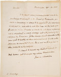 Autographs:U.S. Presidents, James Madison Autograph Letter Signed as President during the War of 1812. ...