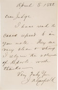 Autographs:U.S. Presidents, James A. Garfield Scarce Autograph Letter Signed as President.... (Total: 2 Items)