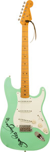 Musical Instruments:Electric Guitars, Stevie Ray Vaughan Signed 1986 Fender '57 Reissue StratocasterSeafoam Green Electric Guitar....
