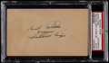 Baseball Collectibles:Others, 1949 Satchel Paige Signed Government Postcard....